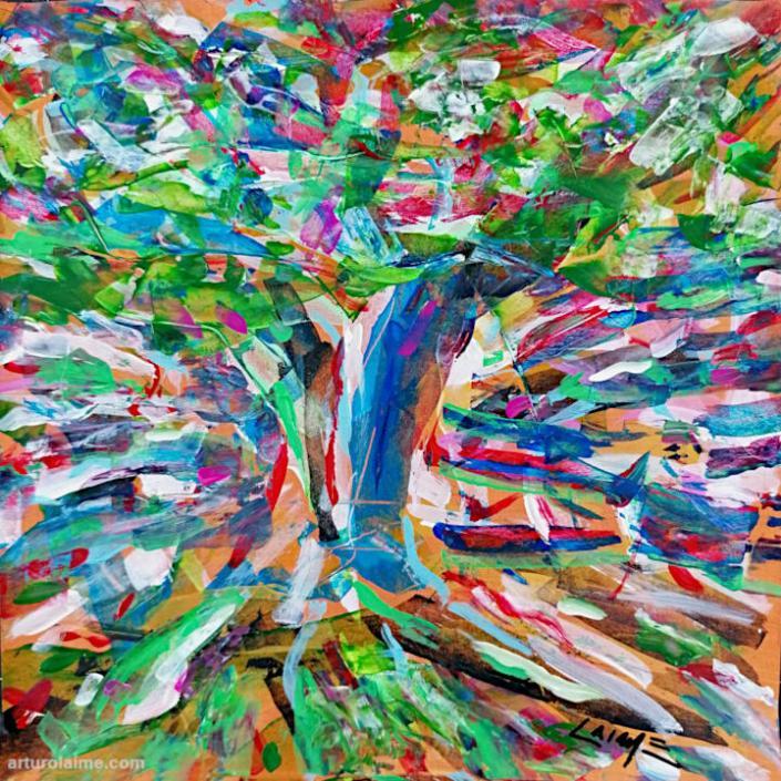 Apfelbaum Kunst auf Papier