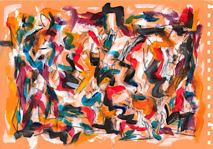 Crowd Kunst auf Papier