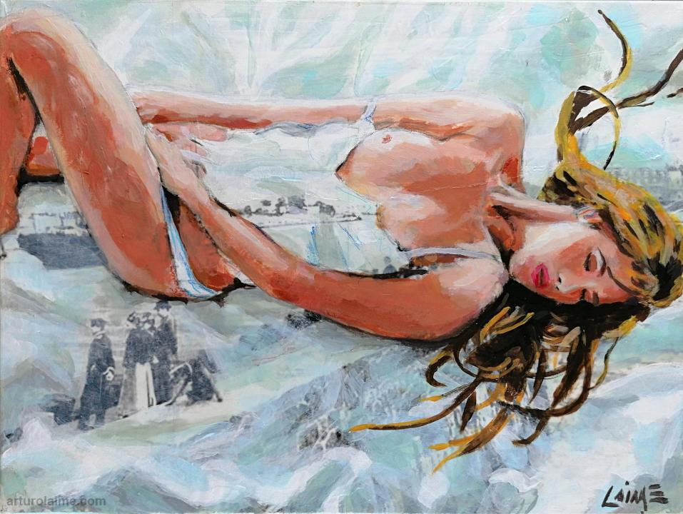 Träumende Frau Gemälde