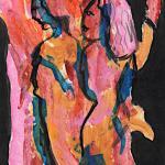 Zwei Schwestern Kunst auf Papier