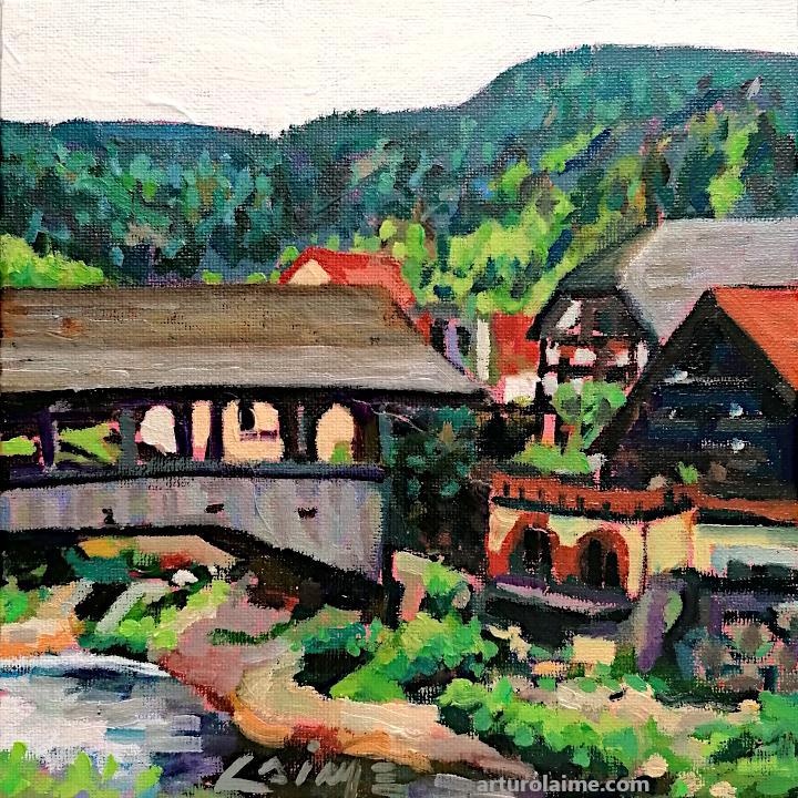 Forbacher Holzbrücke von Arturo Laime