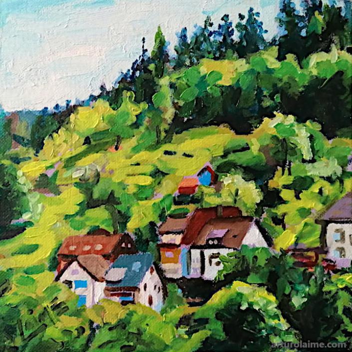 Häuser am Hügel von Arturo Laime