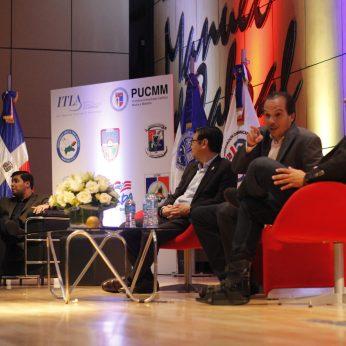 De izquierda a derecha: Arturo López Valerio, Mite Nishio, Orlando Pérez y Juan Luis Lozada.