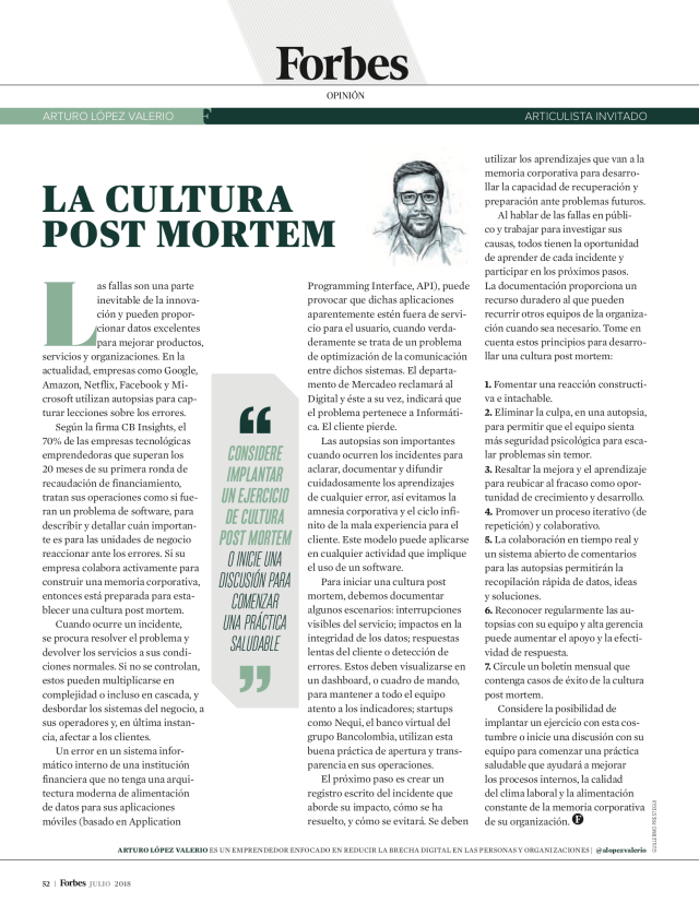 La Cultura Post Mortem