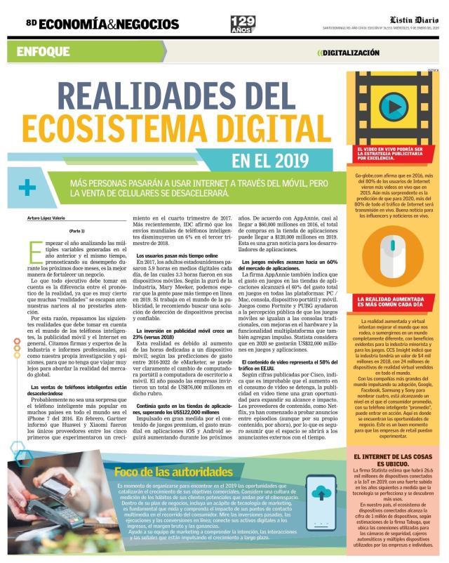 Realidades del Ecosistema Digital (1ra Parte)