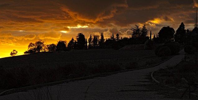 Puesta de sol en Laguna de Duero
