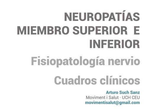Presentación cursos de neuropatías