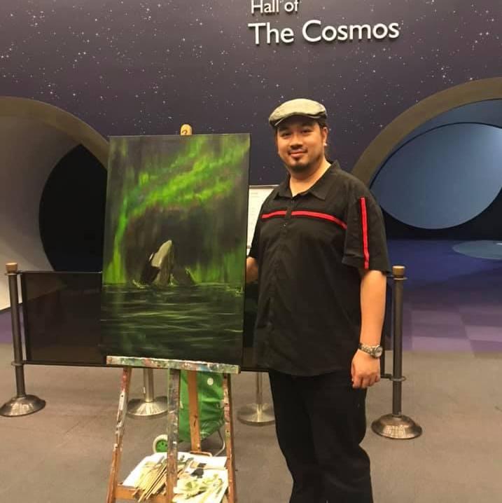 Art Vacation Studio 校長成為全球首個於北極光現場繪畫北極光的藝術家
