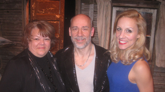 Director Kelli Bocock-Natale with set designer Paul Bostaph, and Candice Kogut who plays Curley's wife.