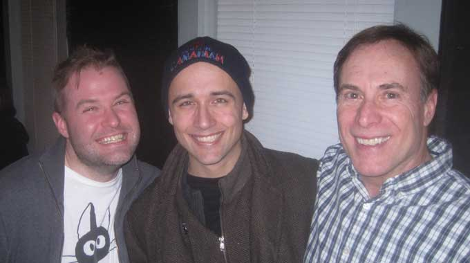 Director Drew McCabe with Rick Lattimer who plays Ronnie and Robert Ernie Insana who stars as Artie.