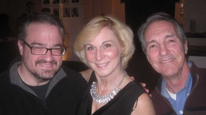 Actors Matt Witten, Lisa Ludwig, and Peter Palmisano