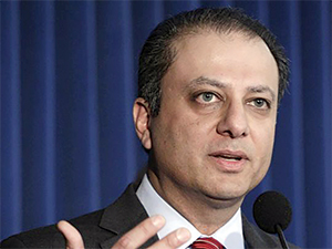 "US Attorney Preetinder Singh ""Preet"" Bharara prosecuted Sheldon Silver and Dean Skelos for exchanging taxpayer money for donations or other favors."