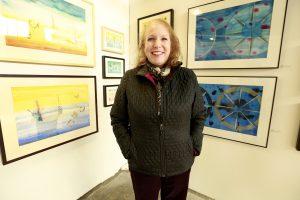 Becky Koenigs @ Echo Art Fair photo by Cheryl Gorski