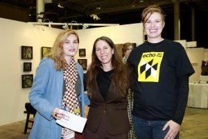 Jessica Buscaglia, Jody Hanson, Tara Sasiadek @ Echo Art Fair photo by Cheryl Gorski 3