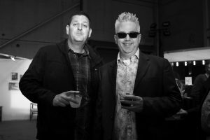 Jethro Soudant & Mark Wisz @ Echo Art Fair photo by Cheryl Gorski