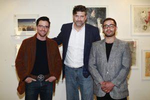 John W Bateman & John Santomieri Tim Stevens @ Echo Art Fair photo by Cheryl Gorski