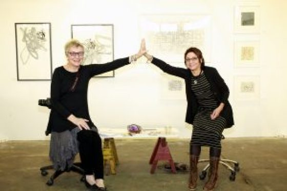 Kathleen Sherin & Catherine Shuman Miller @ Echo Art Fair photo by Cheryl Gorski 3