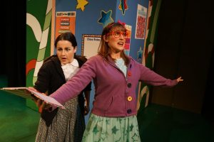 Arin Lee Dandes (left) as May and Renee Landrigan as Junie B. Jones.