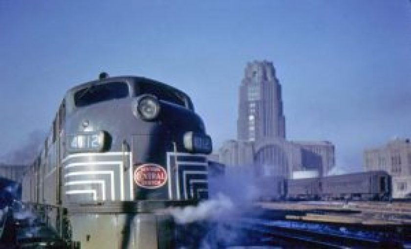 New York Central Train pulling out of Central Terminal