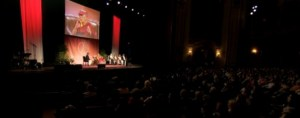 On May 6, the Dalai Lama spoke at Albany's Palace Theatre to a crowd of about 2600.