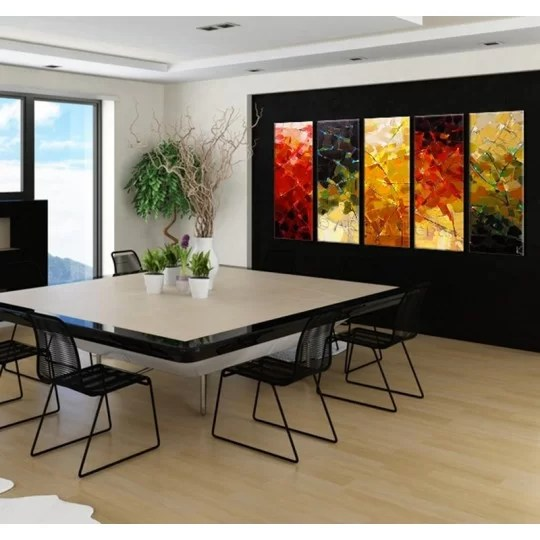 four seasons modern painting