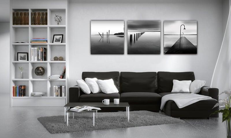 Ocan Noir Et Blanc Triptyque Design ArtWall And Co