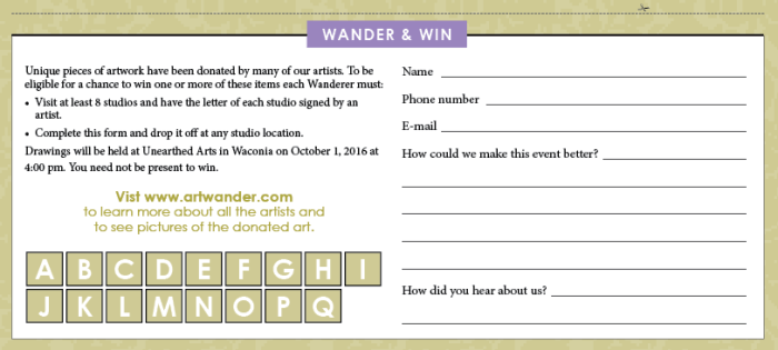 2017 Wander & Win Form