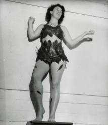 Evelyn Bullock dressed for costume party at the 1949 Summer Art Institute