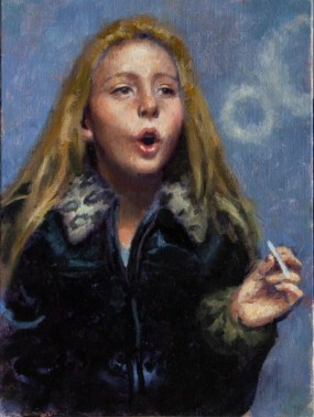 Dave_Lebow_Kid_Smoking_01_9x12inches