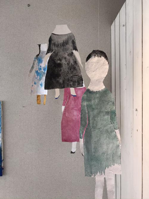 絵屋の展示、白京子展