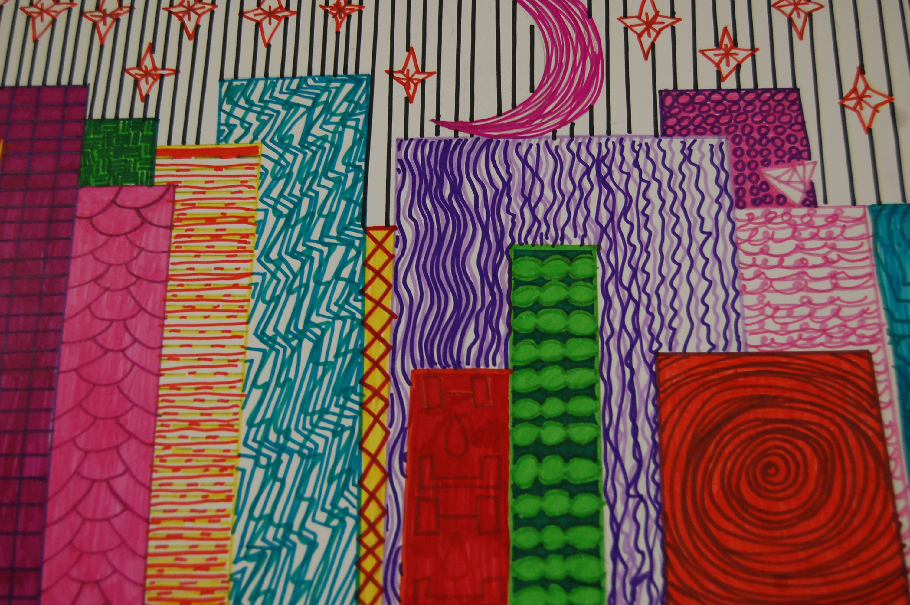 5th Grade Implied Texture Landscapes