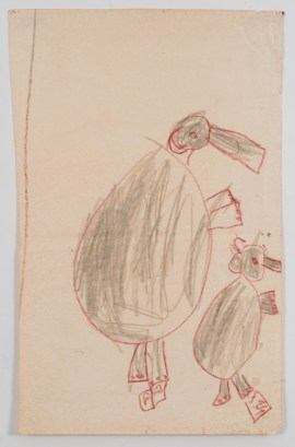 Work by Katherine Bradford, Age 8, 1950. Courtesy of ProjectArt.