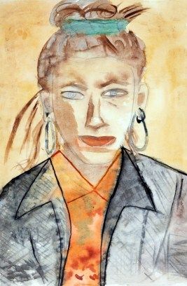 Katherine Bernhardt, Self Portrait, 1992 (Age 17). Courtesy of ProjectArt.