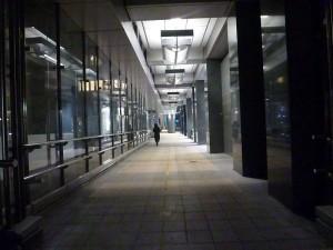 A corridor in the Barbican