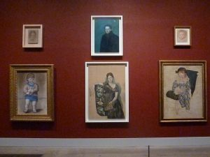 Picasso paintings arranged as in 1932 retrospective