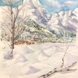 Grand Teton Mountains Reimagined
