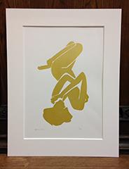 Gold Elena Silk Screen Print