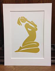 Gold Esther Silk Screen Print