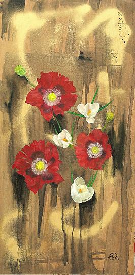 Nicola Preston original Poppies