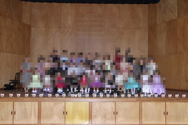 諫早文化会館中ホールでの集合写真