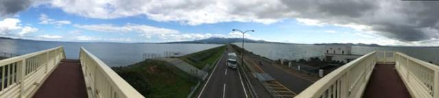 干拓堤防パノラマ写真