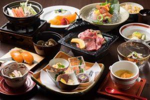 十勝の季節素材を使用した和食会席膳 十勝川温泉第一ホテル
