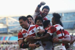 ラクビーW杯日本が南アに勝利