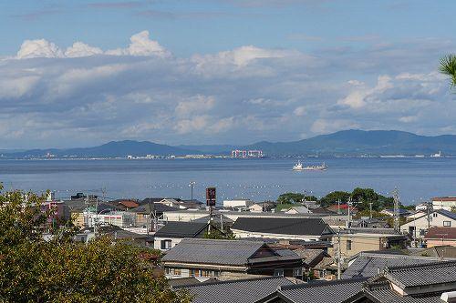 島原城から見る熊本。すぐ目の前のように見える
