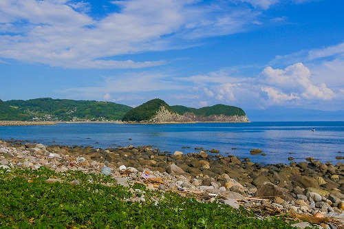 曲崎古墳群から見た風景