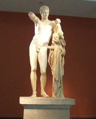 赤子のディオニソスを抱くヘルメス