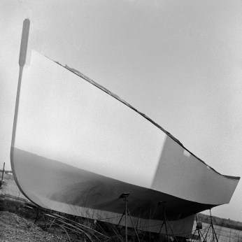 Original photograph of a boat's bow...