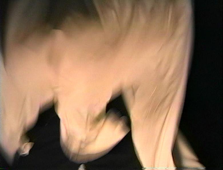 Rodney McMillian Untitled sheet performance