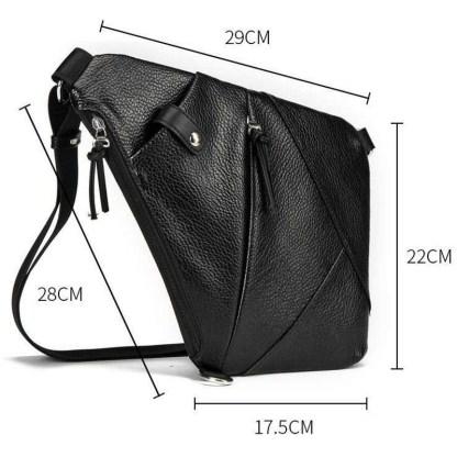 Мужская сумка через плечо ArtX эко кожа черная #050