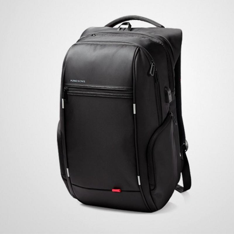 Городской дорожный рюкзак ArtX Kingsons A15″ USB 27 литров Черный  102 4f2b82ecdc5